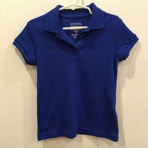 George Boys Uniform Short Sleeve Polo Shirt XS 4-5